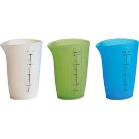 Trudeau Flexible 2 Cup Measuring Beaker - Set of 3
