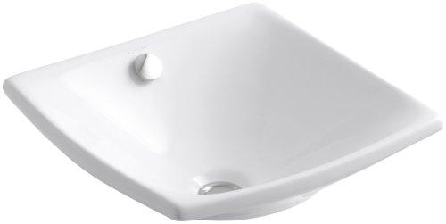 KOHLER K-19047-0 Escale Vessels Bathroom Sink, White