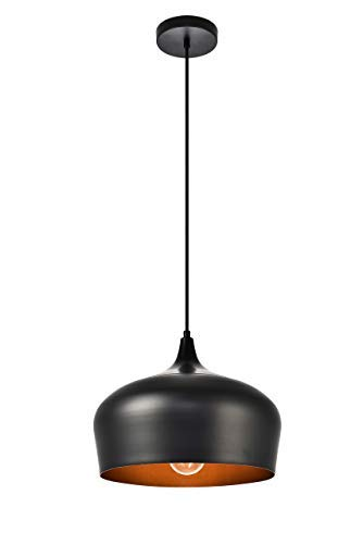 Elegant Lighting Nora Collection Pendant D11.5in H9in Lt:1 Black Finish