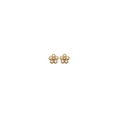 MARY JANE - Boucles d'oreilles plaqué Or Femme - Diam:5mm - Plaqué or-Zirconium