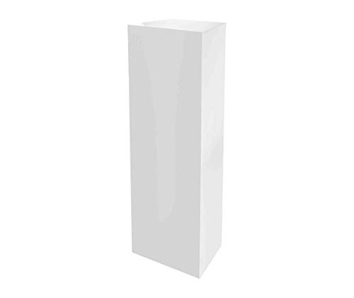 Marketing Holders Acrylic Tall Pillar Flower Display Box Cube Toys Trinkets Collectible Items Safety Dust Cover Square 5 Sided Show Case Art Easel Pedestal Display 12 w x 40 h x 12 d White Pack of 1