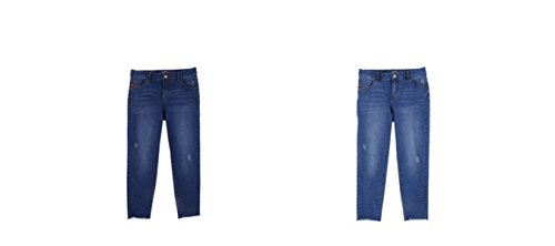 Printemps Occasionnels Pantalons Lavage Femmes Droits Uss Pantalons Jeans Automne Pantalons Printemps Femmes Des GZHGF Et Stretch Lightblue P51wTq5x