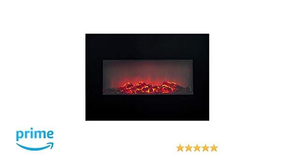 Classic Fire Memphis Calefactor eléctrico con iluminación led-1800W, Negro, Talla única