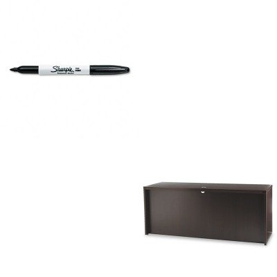 KITMLNACD7224LDCSAN30001 - Value Kit - Mayline Aberdeen Series Laminate Credenza Shell (MLNACD7224LDC) and Sharpie Permanent Marker (SAN30001)