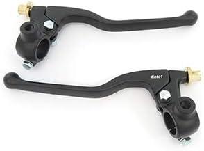 """7//8/"""" Drum Brake Chrome /& Black Clutch Suzuki Lever Set w// Mirror Mounts"""