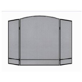 Panacea Products 15951 3-Panel Arch Screen with Double Bar for Fireplace (Fireplace Panel Screen)