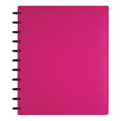 TUL(TM) Custom Note-Taking System Discbound Notebook, Letter Size, Poly Cover, Pink