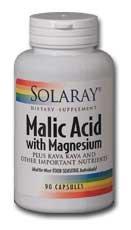 (Solaray Malic Acid with Magnesium Supplement,  90 Count)