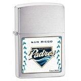 Zippo MLB San Diego Padres Lighter (Silver, 5 1/2 x 3 1/2 cm)