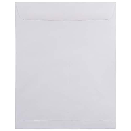 JAM PAPER 11 1/2 x 14 1/2 Open End Catalog Commercial Envelopes - White - 25/Pack