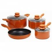 Gibson Colorsplash Branston 7 pc Cookware Set- Orange by Gibson