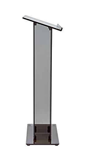 AdirOffice Acrylic Stand up, Floor-Standing Podium, Lectern (See Through Black) by AdirOffice (Image #3)