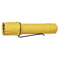 Tactical Cree LED Flashlight, Yellow, with Anti-Roll Head, Removable Metal Clip, Two CR123 Batteries Tools Equipment Hand Tools