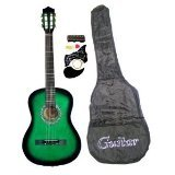 "38"" GREEN Acoustic Guitar Starter Package, Guitar, Gig Bag, Strap, Pitch Pipe & DirectlyCheap(TM) Translucent Blue Medium Guitar Pick"