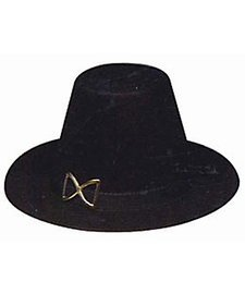 Jacobson Hat Company Women's Permafelt Pilgrim Hat, Black, Adult ()
