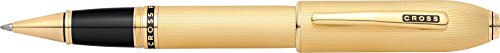 Cross Peerless 125 23KT Heavy Gold Plate Selectip Rolling Ball Pen with 23KT Gold Plated - Ball Selectip Pen Gold Rolling