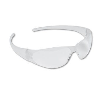 Checkmate Wraparound Safety Glasses, Clr Polycarb Frm, Uncoated Clr Lens, - Polycarb Lenses