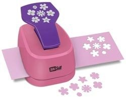 McGill Perfect Petals Stacking Lever Punch, Baby Blooms, Multi Size 0.3125-Inch, 0.625-Inch