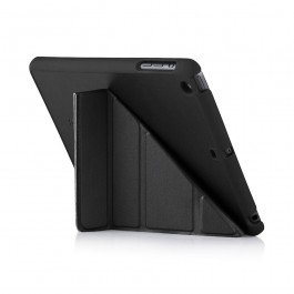 Pipetto iPad Mini 1,2,3 Case - 5 in 1 Folding Origami Smart Case Auto Sleep/Wake Function (Compatible with Apple iPad Mini 1, Mini 2 & Mini 3) - Black (Lambskin Mini)
