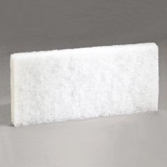 3M Commercial 4-5/8X10 Wht Clean Pad (Pack Of 5) 8440 Scrub (3m Doodlebug Pad)