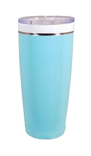 - CeramiSteel 22 ounce Travel Mug with Lid | Ceramic Coated Stainless Steel Tumbler | Vacuum Insulated and BPA Free | Turquoise Powder Coat Finish