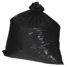 Nature Saver : Trash Can Liners,Rcycld,55-60 Gal,1.8mil,38''x58'',100/BX,BK -:- Sold as 2 Packs of - 100 - / - Total of 200 Each