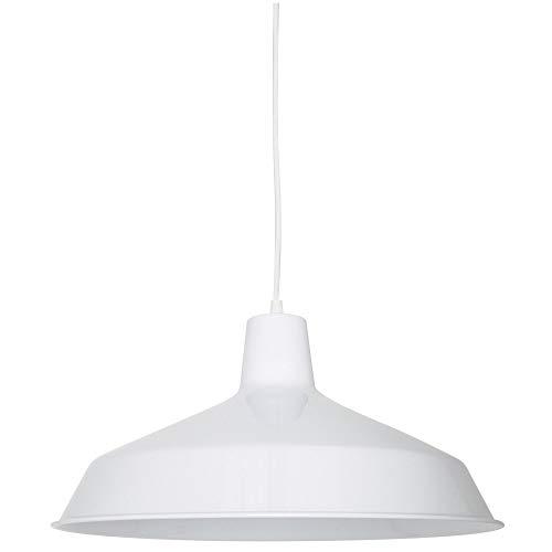 1 Light Bowl Pendant Finish: White