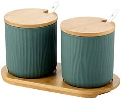 Nordic Ceramic Spice Rack Salt Pepper Seasoning Jar Household Kitchen Storage Bottle Set