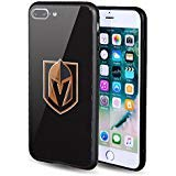 The Mass NHL iPhone 7/8 Plus Case,Tempered Glass Back and Shockproof Bumper Cover for Apple iPhone 7/8 Plus (Vegas Golden Knights)