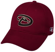 - MLB ADULT Arizona DIAMONDBACKS Home Red Hat Cap Adjustable Velcro TWILL
