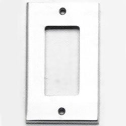 Omnia 8023/S Single Rocker Switch Plate from the Classics Collection, Satin Nickel