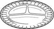 Scalloped Satin Design (Disposable Plate, 6 In, PK1000)