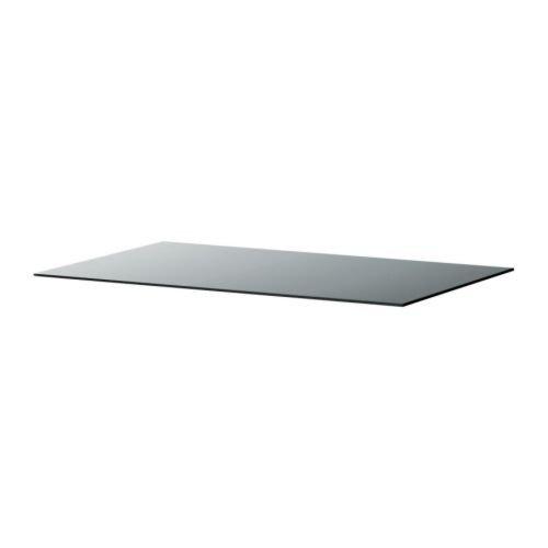 Ikea Malm Plateau En Verre Transparent Gris 80 X 48 Cm Amazon