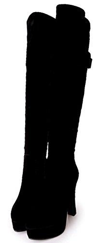 Polven Alustan Idifu Korot Mokka Paikkaansa Yli Lohko Saappaat Sivuvetoketju Muotitietoinen Naisten Soljen Korkea Iqg4PwIr