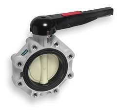 Ipex - FKLM212 - Lug-Style Butterfly Valve, Glass Reinforced Polypropylene, 150 psi, 5 Pipe Size from Ipex