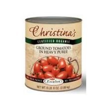 Christinas Certified Organic Ground Tomatoes in Extra Heavy Puree, 105 Ounce -- 6 per case.