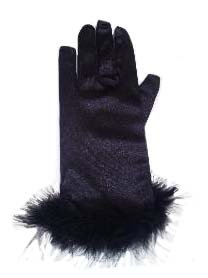 手袋 グローブ ストレッチ ショート丈 サテン地グローブ