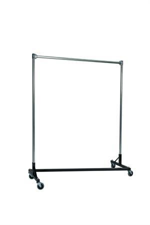 Heavy Duty Z-Rack 5 ft. Single Rail Garment Rack in Black [Kitchen]