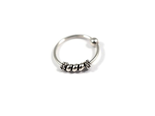[Nose Ring Hoop,925 Sterling Silver Nose Rings (Silver)] (Cheap Dark Alice In Wonderland Costume)