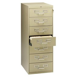 8 Drawer Card Cabinet - Tennsco Card Files & Media Storage Cabinet - 19
