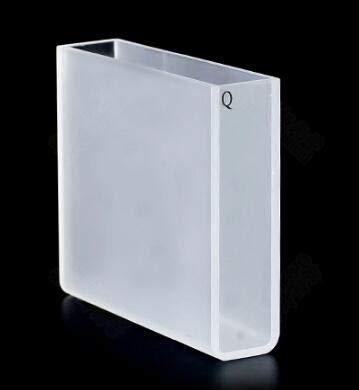 Laliva 50mm quartz standard cuvette (transparent on both sides) - (Color: 2 ordinary)