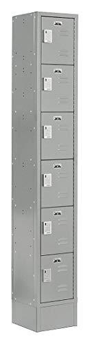 (Gray Box Locker, (1) Wide, (6) Tier, Openings: 6, 12