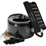 Seismic Audio - SAJT-16x8x75 - 16 Channel 75' XLR Snake Cable with 1/4