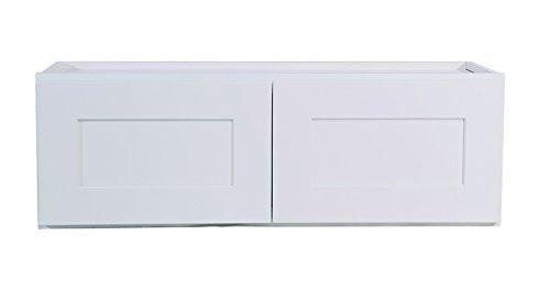 Brookings 36-Inch Corner Wall Cabinet, White Shaker (Shaker Corner Cabinet)