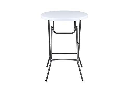 Phoenix Home FT190216 Granite Round Plastic Bar Height Folding Table, 32
