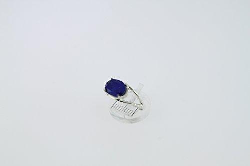 Bague en Lapis-lazuli 30-18 - Bijoux en argent rhodié et Lapis-lazuli - Toutes tailles et diverses pierres - ARTIPOL