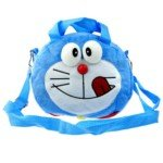 Cute Doraemon Style Soft Plush Shoulder/Handheld Bag(Blue)