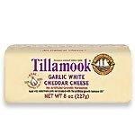 Tillamook Garlic White Cheddar Cheese - 8 oz