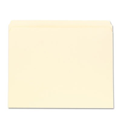 Folders Single Ply Tab - File Folders, Straight Cut, One-Ply Top Tab, Letter, Manila, 100/Box, Sold as 100 Each