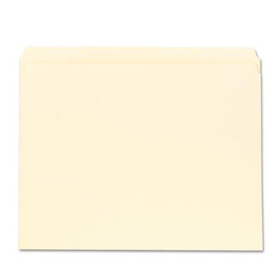 File Folders, Straight Cut, One-Ply Top Tab, Letter, Manila, 100/Box, Sold as 1 Box, 100 Each per Box